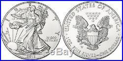 100 x 1oz American Silver Eagles 2013 5 Tubes