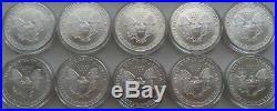 10 2004 American Silver Eagles Brilliant Uncirculated Half Roll 1 Ounce Oz ASE
