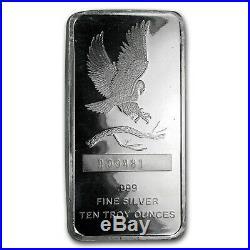10 oz Silver Bar SilverTowne Eagle SKU#169723
