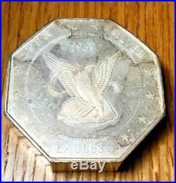 10 oz Silver Eagles Nest Octagon bar 1969 ounce bullion RARE