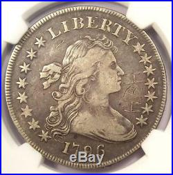 1796 Small Eagle Draped Bust Silver Dollar $1 Coin Certified NGC VF Detail