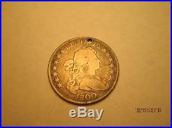 1800 Draped Bust Heradic Eagle Silver Dollar Rare Hole CC