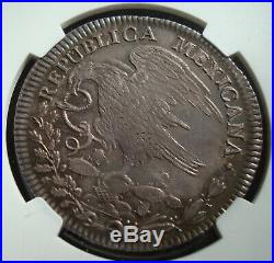 1824-Mo-JM-Mexico-8-Reales-Silver-HOOKNECK-EAGLE-NGC-AU53