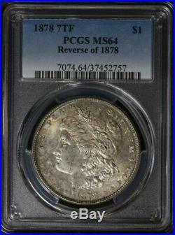 1878 7/8 TF VAM 31 Four Legged Eagle Morgan Dollar PCGS MS 64 BU Only 9 Finer