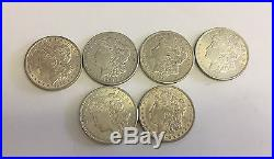 1890 1921 Silver USA 6 1oz Eagle Dollars Coin 160 Grams Bullion