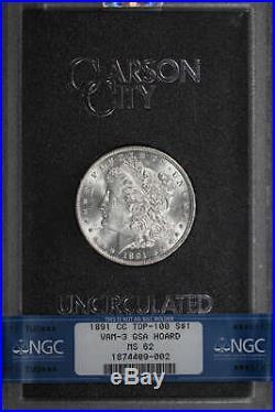 1891-CC Morgan Dollar GSA Top 100 VAM 3 Spitting Eagle NGC MS-62 -177056