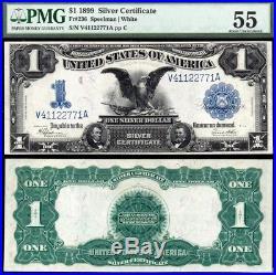 1899 $1 Black Eagle Silver Certificate PMG AU55 NICE