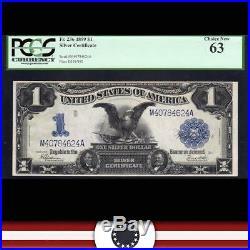 1899 $1 SILVER CERTIFICATE BLACK EAGLE PCGS 63 Fr 236 M40784624A