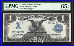 1899 $1 Silver Certificate BLACK EAGLE NOTE PMG 65 EPQ Fr 236 N4834928A