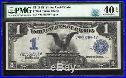 1899 $1 Silver Certificate BLACK EAGLE PMG 40 EPQ RQN Fr 233 V85559561V