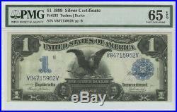 1899 $1 Silver Certificate FR#233 PMG 65 Gem Unc EPQ Black Eagle