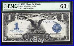 1899 $1 Silver Certificate Note BLACK EAGLE PMG 63 EPQ Fr 236 V77130431A
