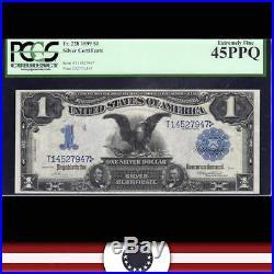 1899 $1 Silver Certificate PCGS 45 PPQ Fr 228 BLACK EAGLE T14527947