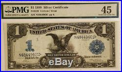 1899 $1 Silver Certificate PMG 45 BLACK EAGLE LARGE BILL NOTE CURRENCY
