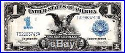 1899 Large-size $1 Dollar Black Eagle Silver Certificate Fr-236