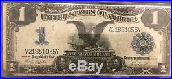 1899 One Dollar LARGE SIZE Silver CertificateBLACK EAGLECIRCULATED