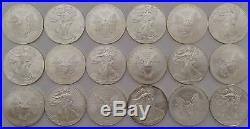 18 x 2014 1oz Fine Silver USA Liberty Eagle Dollar Uncirculated Coins Bullion