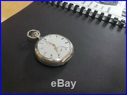 18s Crescent Street Keywind Model 1870 Pocket Watch, Original Eagle Coin Case