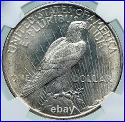1922 USA United States Coin LIBERTY EAGLE Vintage Silver PEACE DOLLAR NGC i87395
