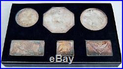 1969-1971 Silver American Eagle NEST SET 19.25 ozt 999 Ingots WALLA WALLA 07953