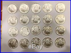 1986 1 oz Silver American Eagle BU, roll of 20