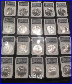 1986-2005 American Silver Eagles 20th Anniversary Collection NGC MS69