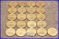 1986-2006 (21) x American Eagle 1oz Gold Layered Plated Silver Bullion Coins ASE
