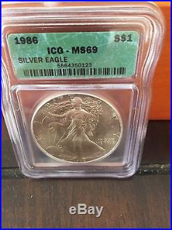 1986-2008 silver eagle PCGS 20th anniversary set (23) coins