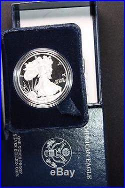 1986 2013 AMERICAN EAGLE SILVER DOLLAR PROOF SET 27 coins, boxes, and COAs
