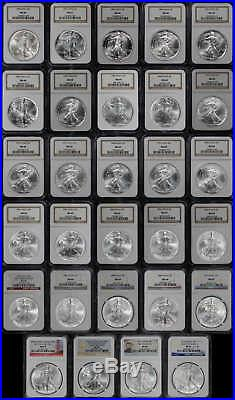 1986-2014 American Silver Eagle 29 Coin Set All NGC MS-69 -173077