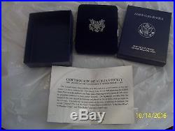1986 2015 American Eagle Silver Dollar Proof Set Coa