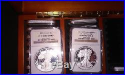 (1986-2015 W) Ngc Pf69, Proof American Silver Eagle (29 Coin Set) Ultra Cameo