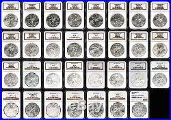 1986-2016 31 Coin Complete Silver Eagle Set All NGC MS-69 withCustom Boxes -146834