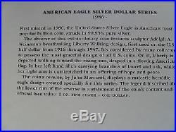 1986 2016 American Silver Eagles 1 Oz Complete Set Of 31 Coins