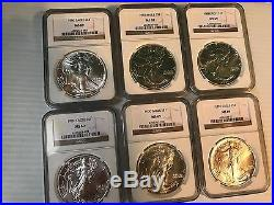 1986 2016 Complete 31 Coin American Silver Eagle Set Ngc Ms 69