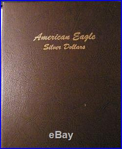 1986-2017 Silver American Eagle Rainbow Toned Set in Dansco Album (32) Coins