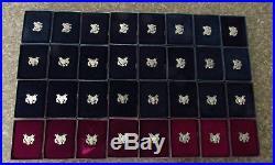 1986-2018 PROOF American Silver Eagle BOX/COA FULL DATE SET 32 COINS