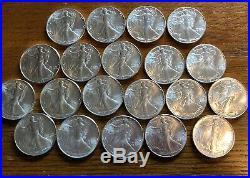 1986 AMERICAN SILVER EAGLE ROLL 20 Oz Silver. BU Condition. FIRST YEAR