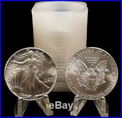 1986 BU Roll of (20) American Silver Eagles Original Government Tube OGP