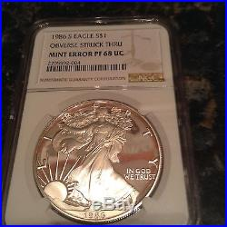 1986-S 1 oz Silver American Eagle Proof (Mint Error!)