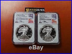 1986 S & 2016 W Proof Silver Eagle Ngc Pf69 Ultra Cameo Rare Mercanti 30th Ann