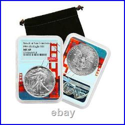 1986 S American Silver Eagle NGC MS69 San Francisco Bay Bridge Core