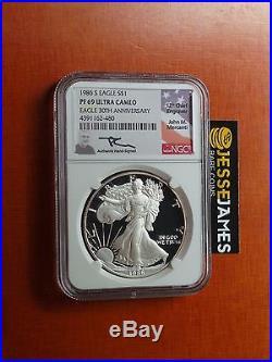 1986 S Proof Silver Eagle Ngc Pf69 Ultra Cameo Rare Mercanti Signed