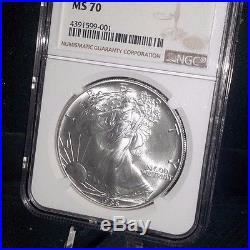 1986 Silver Eagle NGC MS 70 First Year of the Most Beautiful American. 999 fine
