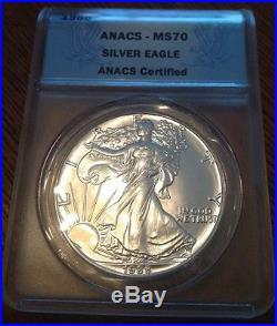 1988 Silver Eagle. Ms70. Perfect Coin. Very Rare