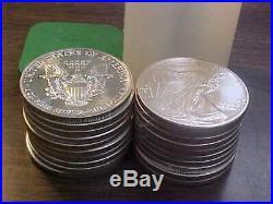 1989 American Silver Eagle Gem Bu Original Roll 4th Year Of Issue Scarce Date