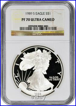 1989-S American Silver Eagle Proof NGC PF70 UCAM