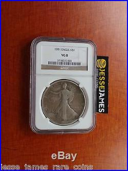 1991 American Silver Eagle Ngc Vg 8 Worst Bullion Eagle Graded Lowball Epic Coin