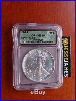 1991 Silver Eagle Icg Ms70 Better Date Spotted Coin. See All My Others