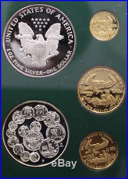 1993 American Eagle Gold & Silver PHILADELPHIA SET RARE